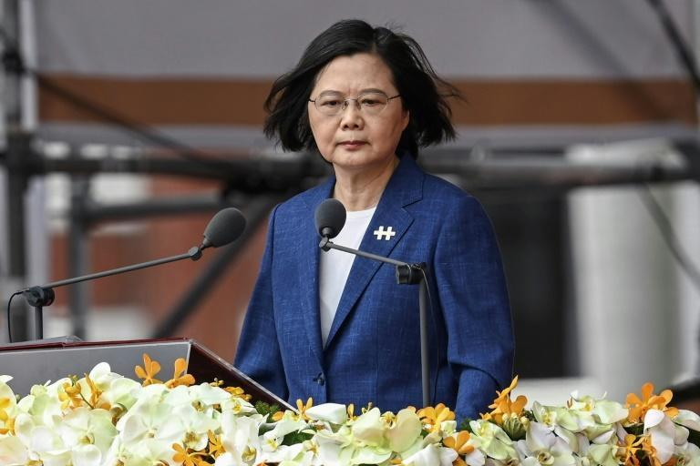 Taiwan's President Tsai Ing-wen has said the island will not bow to Chinese pressure (AFP/Sam Yeh)