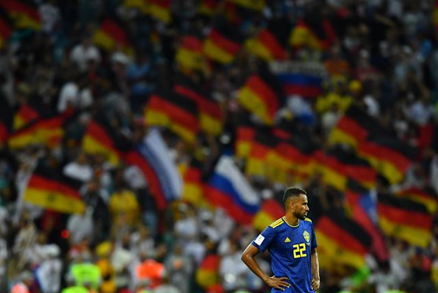 Soccer Football - World Cup - Group F - Germany vs Sweden - Fisht Stadium, Sochi, Russia - June 23, 2018 Sweden's Isaac Kiese Thelin looks dejected after the match REUTERS/Dylan Martinez