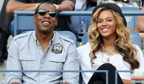 <span>Jay-Z, apparently dressed as if in the RAF, and Queen Bey</span> <span>Credit: Getty </span>