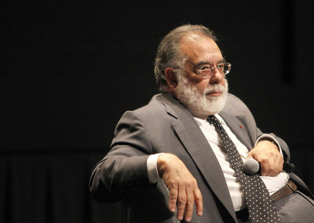 "TORONTO, ON - SEPTEMBER 11:  Filmmaker Francis Ford Coppola speaks at ""A Conversation With Francis Ford Coppola"" at TIFF Bell Lightbox during the 2011 Toronto International Film Festival on September 11, 2011 in Toronto, Canada.  (Photo by Peter Bregg/Getty Images)"