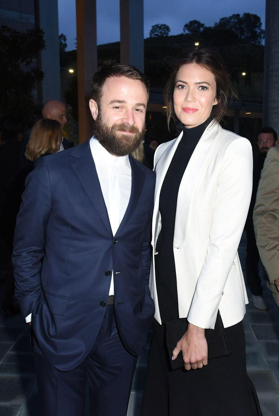 """<p>While she was still healing from her divorce, Moore met Goldsmith, the frontman of the band Dawes. They got married in 2018 and in <a href=""""https://www.glamour.com/story/mandy-moore-november-2018-cover-story"""" rel=""""nofollow noopener"""" target=""""_blank"""" data-ylk=""""slk:her words"""" class=""""link rapid-noclick-resp"""">her words</a>: """"He makes me melt. I can imagine no better partner."""" </p>"""