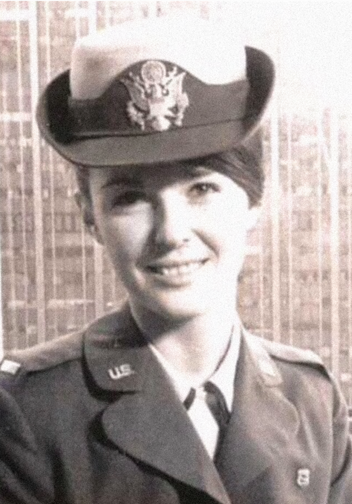 Maggie Lockridge's career in the Air Force Nurse Corps, was cut short when she became pregnant.