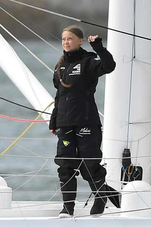 Thunberg's journey to New York will take about two weeks (AFP Photo/Ben STANSALL)