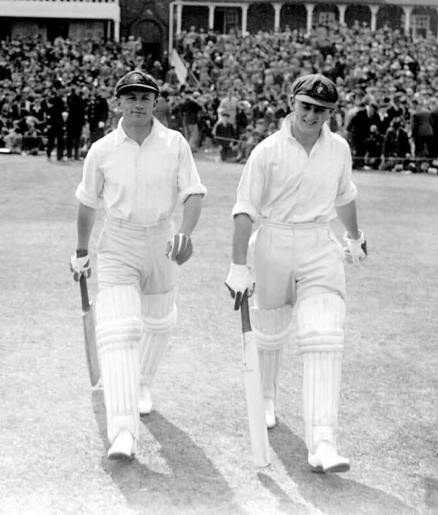 Don Bradman, left, boasted a formidable record at Headingley (PA Archive)