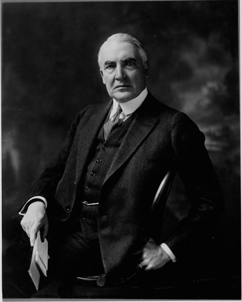 President Warren G. Harding (Photo by Library of Congress/Corbis/VCG via Getty Images)