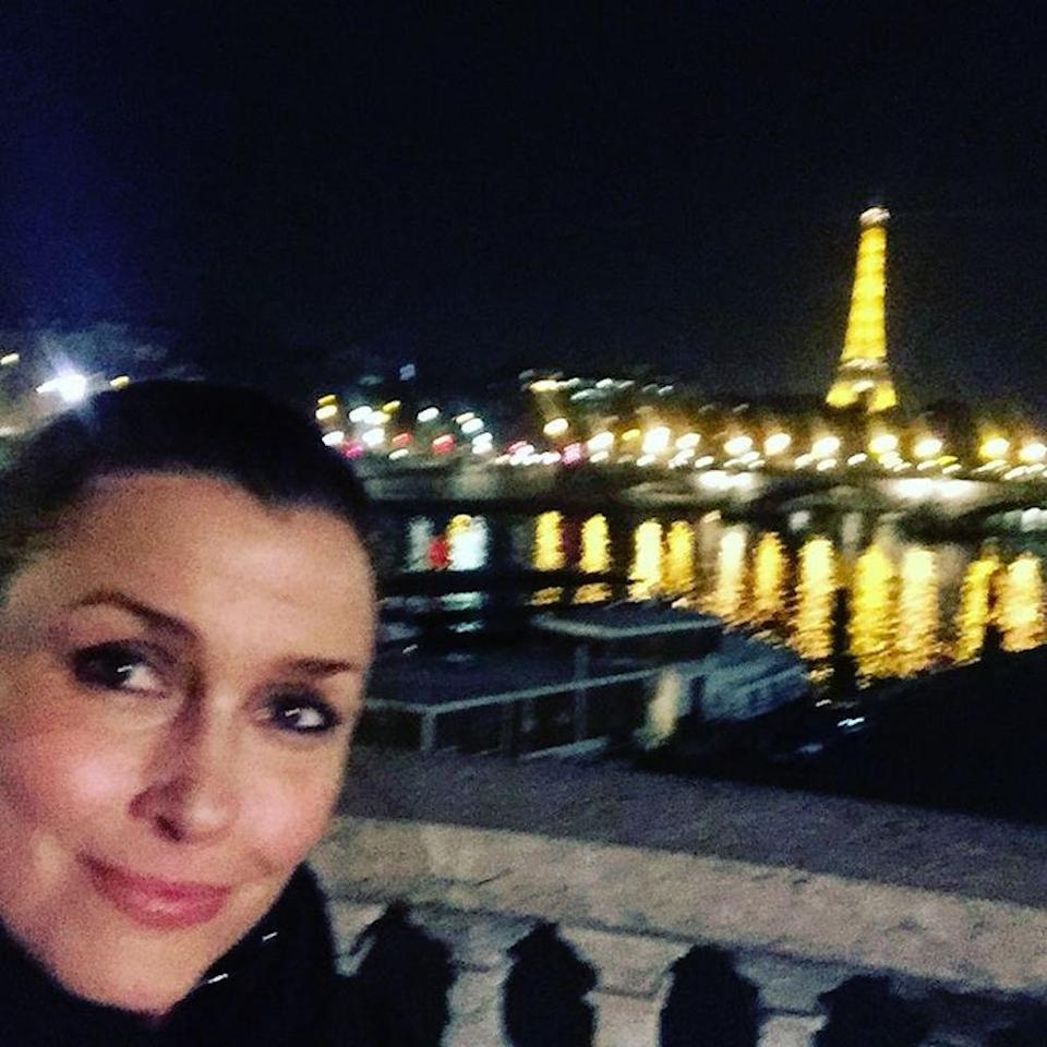 """<p>""""Oui oui Mon Cheri,"""" <em>Blue Bloods</em> actress Bridget Moynahan captioned this photo in January. Her trip was filled with """"friends"""" and """"fabulous"""" """"fun times,"""" she noted. (Photo: <a rel=""""nofollow noopener"""" href=""""https://www.instagram.com/p/BPn5HofgIO3/"""" target=""""_blank"""" data-ylk=""""slk:Bridget Moynahan via Instagram"""" class=""""link rapid-noclick-resp"""">Bridget Moynahan via Instagram</a>)<br><br></p>"""