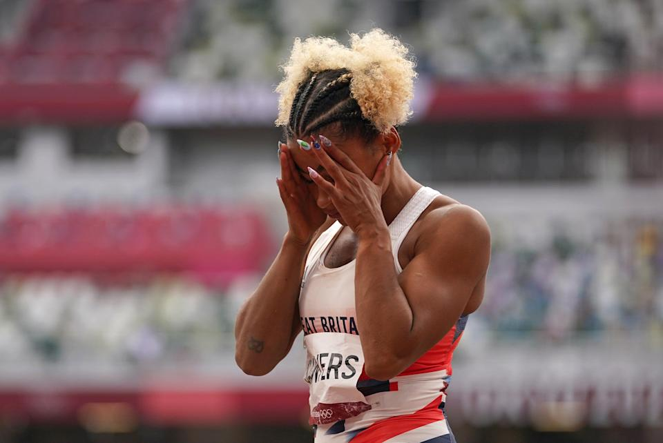 Jazmin Sawyers could only managed eighth in the long jump. (Martin Rickett/PA) (PA Wire)