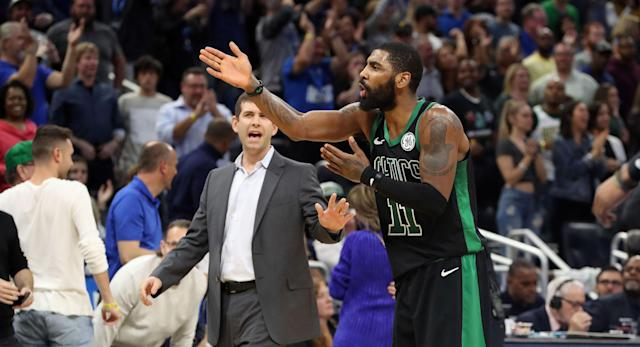 Following Boston's 105-103 loss at Orlando, Gordon Hayward explained what happened on the final play in which Kyrie Irving was clearly bothered by Hayward's decision on the in-bounds pass he threw to Jayson Tatum.