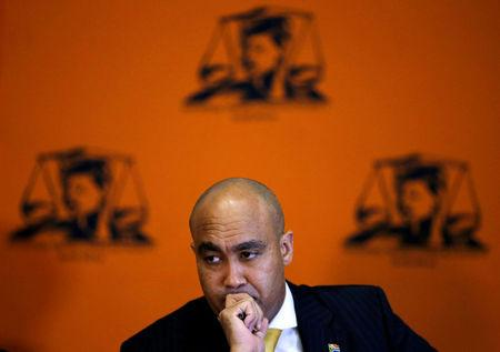 FILE PHOTO: Head of the National Prosecuting Authority, Shaun Abrahams speaks at a media conference in Pretoria, South Africa, October 31,2016. REUTERS/Siphiwe Sibeko/File Photo