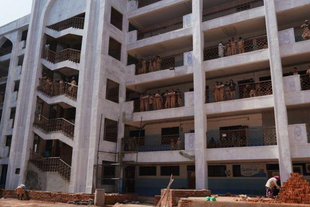 A view of Shaheen School in Bidar. Thepolice questioned at least 60 children about a school play onthe Citizenship Amendment Act.