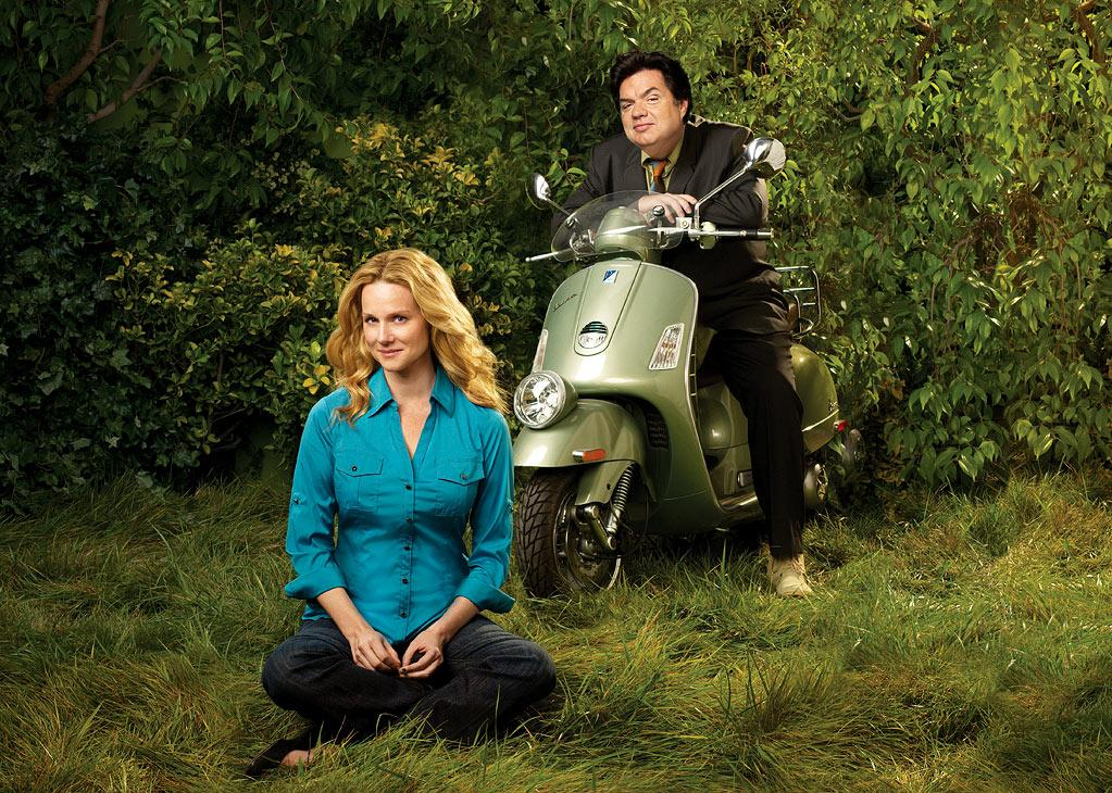 "Laura Linney stars as Cathy and Oliver Platt stars as Paul in ""The Big C."""