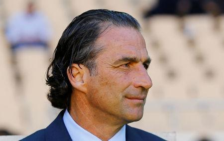 Soccer Football - International Friendly - Saudi Arabia v Greece - Estadio de La Cartuja, Seville, Spain - May 15, 2018 Saudi Arabia coach Juan Antonio Pizzi REUTERS/Marcelo Del Pozo