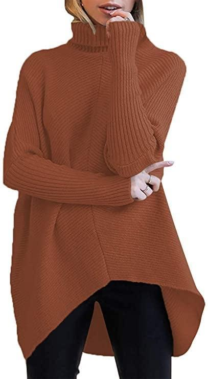 <p>This <span>Turtleneck Long Sleeve Sweater</span> ($35) is the perfect fall shade.</p>