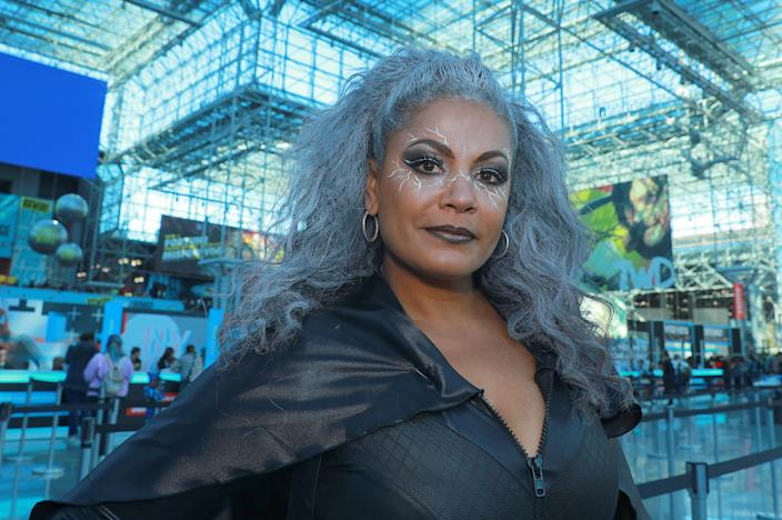 Stephanie Dunn from California dresses as Sky from the X-Men series attends the New York Comic Con 2019  at the Jacob Javits Center on Oct. 5, 2019 in New York City. (Photo: Gordon Donovan/Yahoo News)