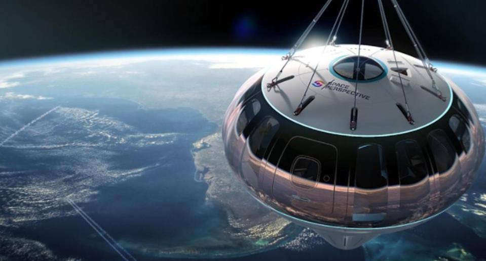 For $125,000, you can take a high-tech hot air balloon into space
