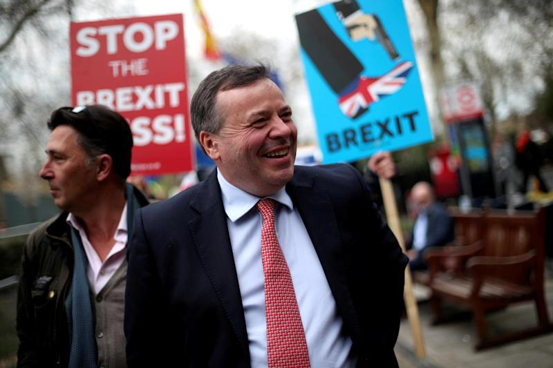 Arron Banks, a long-time ally and millionaire backer of Nigel Farage and his Brexit Party (REUTERS)