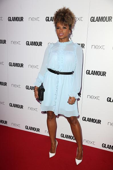 <p>Fleur was rocking the pastel trend in this cute baby blue dress. <i>[Photo: Fred Duval/FilmMagic]</i></p>
