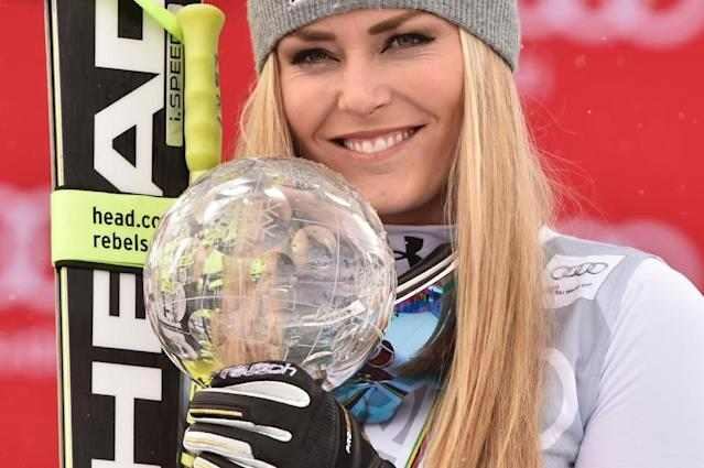 US skier Lindsey Vonn, seenin March 2016, is the winningest female World Cup racer in history (AFP Photo/Fabrice Coffrini)