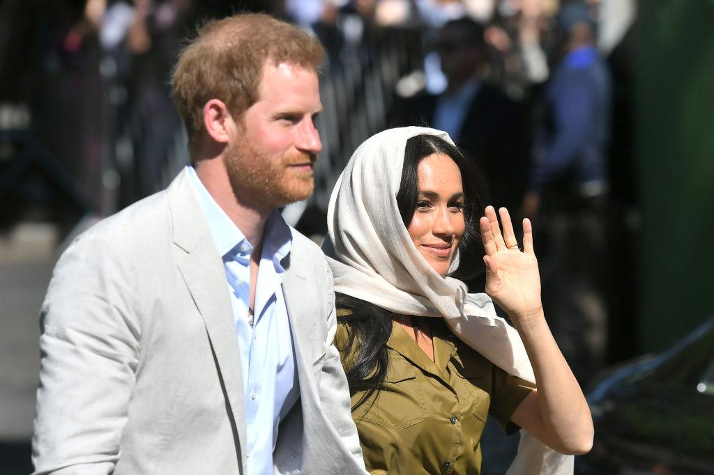 The Duke and Duchess of Sussex visit Auwal Mosque in the Bo-Kaap neighbourhood [Photo: Getty]