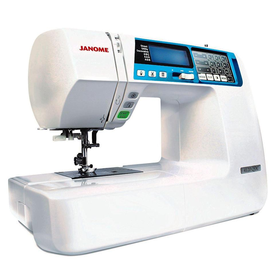 "<p><strong>Janome </strong></p><p>sewingmachinesplus.com</p><p><strong>$649.00</strong></p><p><a href=""https://go.redirectingat.com?id=74968X1596630&url=https%3A%2F%2Fwww.sewingmachinesplus.com%2Fj-4120QDC-B.php&sref=https%3A%2F%2Fwww.goodhousekeeping.com%2Fhome-products%2Fg27760473%2Fbest-sewing-machines-for-beginners%2F"" rel=""nofollow noopener"" target=""_blank"" data-ylk=""slk:Shop Now"" class=""link rapid-noclick-resp"">Shop Now</a></p><p>If you are hoping to master quilting, you will need to start with the right machine. Janome JW8100 has features excellent for quilting projects with <strong>120 built in stitches available, many designed specifically for quilting. </strong>There are three convenient buttons for extra ease: start/stop button allows greater precision when doing detail work, easy reverse button backstitches to keep seams secure, and locking stitch button ties off the end of the thread so you do not have to backstitch on decorative stitches. The feed can be lowered, so this machine is the best pick for free motion quilting. Plus, there are multiple presser feet included specifically for quilting and a removable table to support bigger projects.</p>"