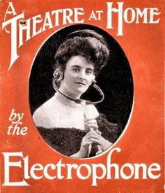 """<span class=""""caption"""">An advertisement for the London Electrophone Company.</span> <span class=""""attribution""""><span class=""""source"""">Image reproduced with permission from BT Archive</span></span>"""