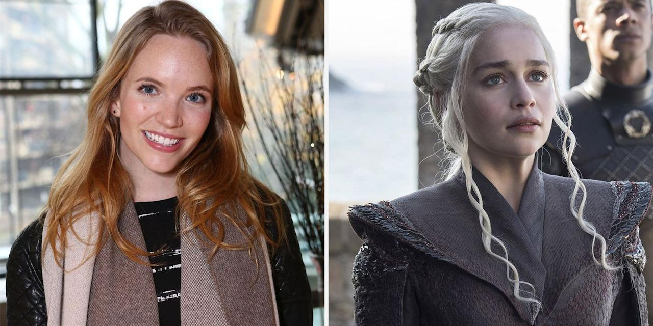 """<p>English actress Tamzin Merchant was originally cast as Daenerys Targaryen for the Game of Thrones pilot. Although the original version of the first episode never aired, George R. R. Martin <a href=""""https://grrm.livejournal.com/153995.html"""" target=""""_blank"""">thought</a> Merchant's performance as Dany was """"wonderful.""""</p>"""