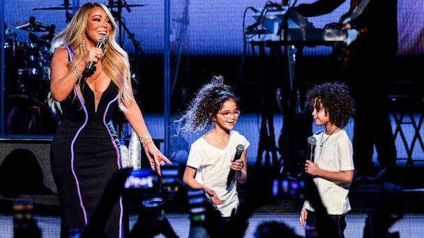 PHOTO: Mariah Carey performs onstage with Monroe Cannon and Moroccan Cannon during the the Caution World Tour at Fox Theater on March 05, 2019 in Atlanta, Georgia. (Kevin Mazur/Getty Images for Live Nation)