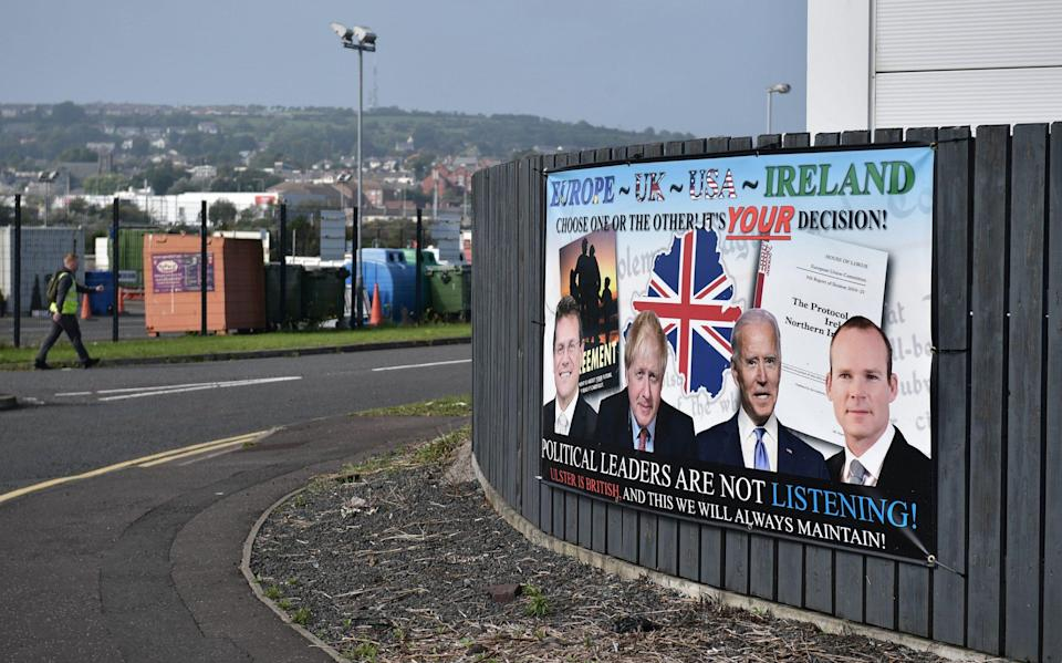 Poster in Ulster - Getty