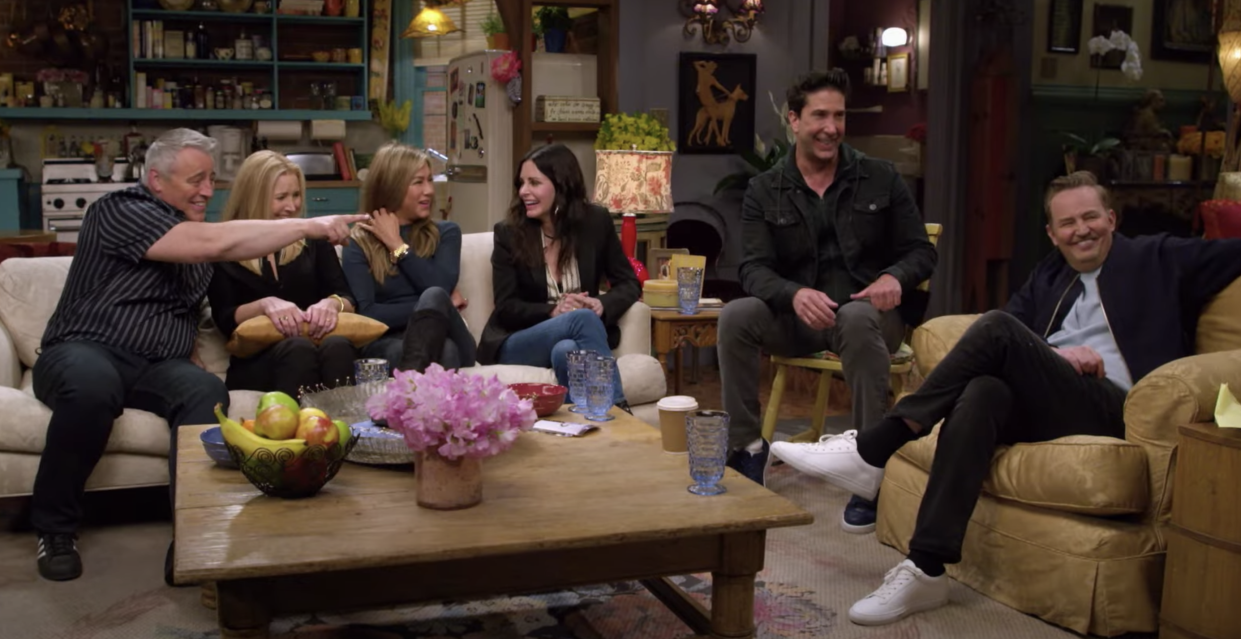 The cast of 'Friends' on the HBO Max reunion special (Photo: WarnerMedia/YouTube)