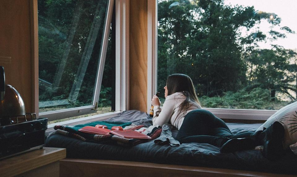 <p>Open up your curtains. Let fresh air into your room by opening up windows if it's not too cold and if it's not polluted outside.</p>