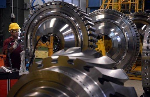 German industrial output down again in October