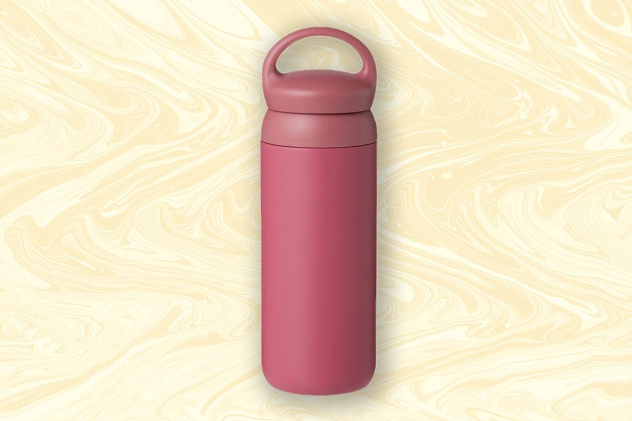 """<p><strong>Perfect for: The Euro tripper</strong>  </p> <p>This minimalist tumbler from Kinto does double duty on hot and cold liquids, maintaining their temperature for six hours. Though it's made of stainless steel, it comes in a mix of chic muted neutrals and bold basics like dusty rose and marigold, meaning you won't mind asking that hip <a href=""""https://www.cntraveler.com/gallery/best-cafes-and-coffee-shops-in-paris?mbid=synd_yahoo_rss"""">Parisian barista</a> to refill it for you. At about 16 ounces it can fit a decent amount inside, but the profile is less bulky than other bottles like it—and thanks to a screw-off handle, you can further slim down the profile to make it even easier to pack and tote around.</p> <p><strong>Buy now:</strong> $38, <a href=""""https://www.urbanoutfitters.com/shop/kinto-day-off-tumbler?color=065&cm_mmc=rakuten-_-affiliates-_-Conde+Nast+Traveler-_-1&utm_medium=affiliates&utm_source=LS&utm_campaign=Conde+Nast+Traveler&utm_term=720924&utm_content=1&ranMID=43176&ranEAID=mcB7N8bf3MY&ranSiteID=mcB7N8bf3MY-ijmCSGtUfJQzMRhDPu0rHg"""" rel=""""nofollow"""">urbanoutfitters.com</a></p>"""