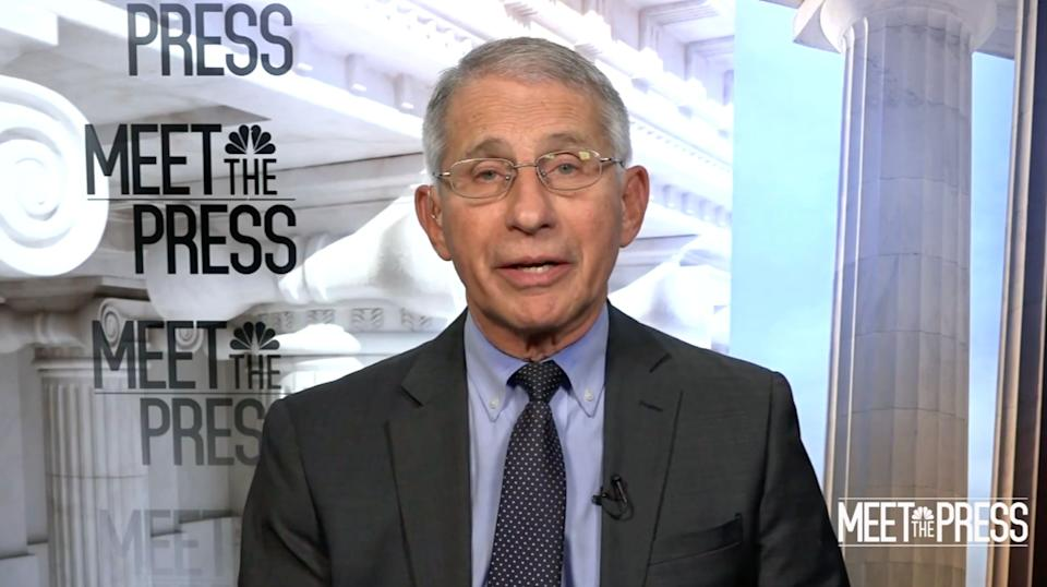 """Dr. Anthony Fauci said he has """"no doubt"""" that the number of COVID-19 deaths in the U.S. has been undercounted. (Photo: NBC News)"""