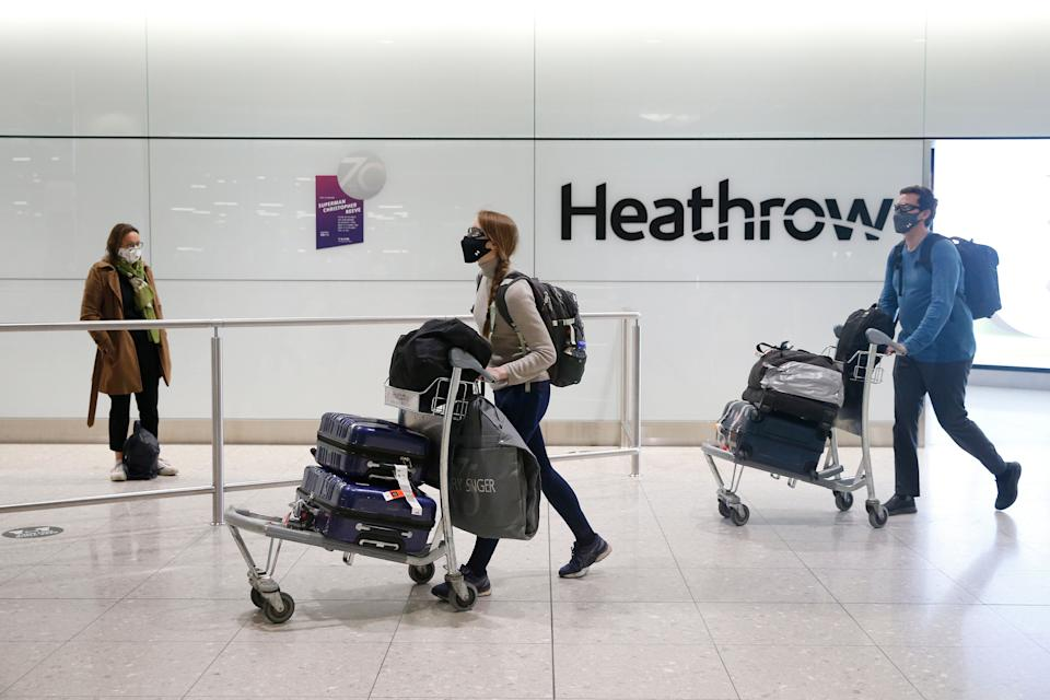 New rules for travellers to the UK are expected to come into force on February 15. (Photo: Hollie Adams via Getty Images)