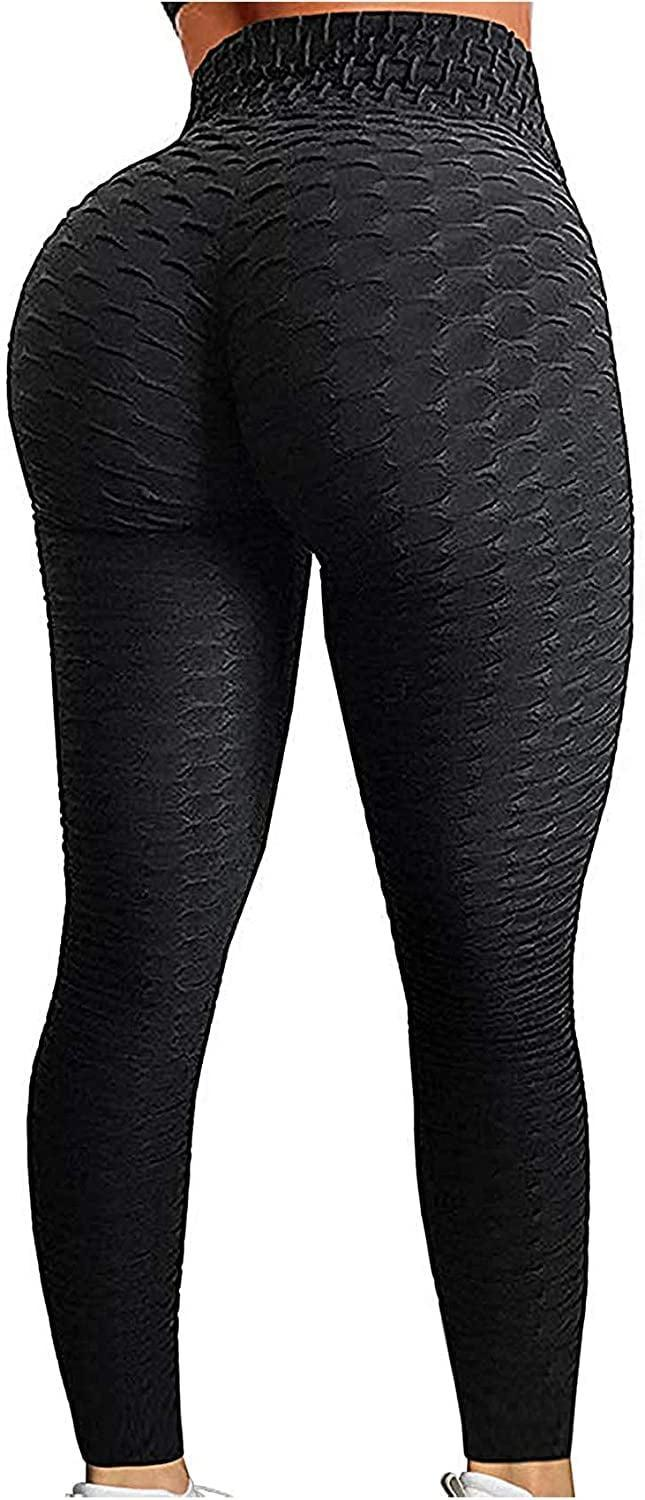 <p>The <span>Seasum Women's High Waist Yoga Leggings</span> ($31) are super flattering for several reasons. The high-waisted, textured fabric will give your booty and legs a more streamlined and accentuated look. The seam is ruched, which makes your butt look lifted and rounded. </p>