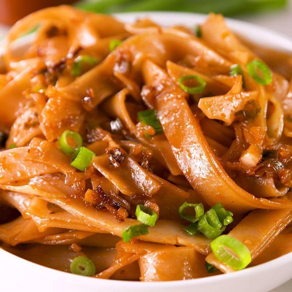 """<p>The sauce for this dish comes together in less time than it takes for your noodle water to boil. This dish is easy, fast, and spicy. Adjust the chilli garlic sauce as you like, but we love the sweet heat of this dish as is. </p><p>Get the <a href=""""https://www.delish.com/uk/cooking/recipes/a35137422/crack-noodles-recipe/"""" rel=""""nofollow noopener"""" target=""""_blank"""" data-ylk=""""slk:Spicy Chilli Garlic Noodles"""" class=""""link rapid-noclick-resp"""">Spicy Chilli Garlic Noodles</a> recipe.</p>"""