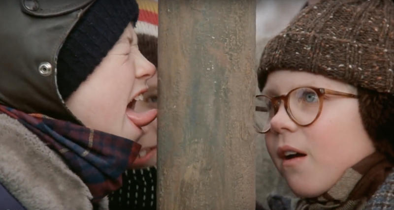 A Christmas Story Kid In Snowsuit.How A Christmas Story Pulled Off The Flagpole Scene