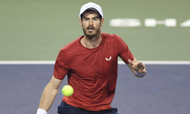 """<span class=""""element-image__caption"""">Andy Murray in action against Fognini in Shanghai.</span> <span class=""""element-image__credit"""">Photograph: Getty Images</span>"""