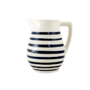 """The way the handle mimics the spout adds extra charm to this stripey ceramic pitcher, which is painted by hand in Tunisia. $30, Sustainable Home Goods. <a href=""""https://yoursustainablehome.com/collections/kitchen/products/cobalt-stripe-pitcher"""" rel=""""nofollow noopener"""" target=""""_blank"""" data-ylk=""""slk:Get it now!"""" class=""""link rapid-noclick-resp"""">Get it now!</a>"""