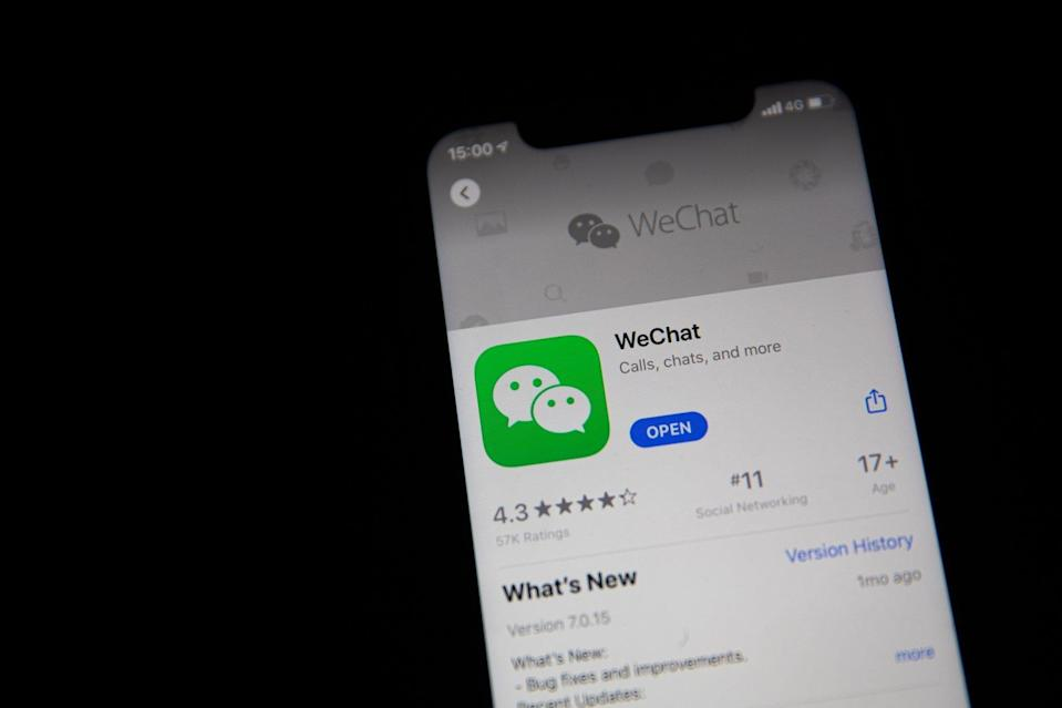 Tencent Holdings super app WeChat, along with mainland Chinese version Weixin, had a total of 1.2 billion monthly active users as of December 31, 2020. Photo: EPA-EFE