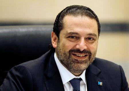 FILE PHOTO - Lebanon's Prime Minister Saad al-Hariri presides a cabinet meeting at the governmental palace in Beirut, Lebanon September 29, 2017. REUTERS/Mohamed Azakir/File Photo