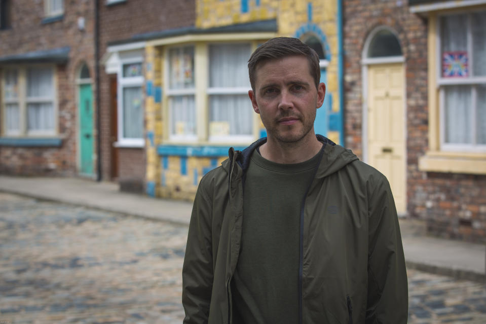 Todd Grimshaw's return is sparked by a letter. (ITV/Mark Bruce)