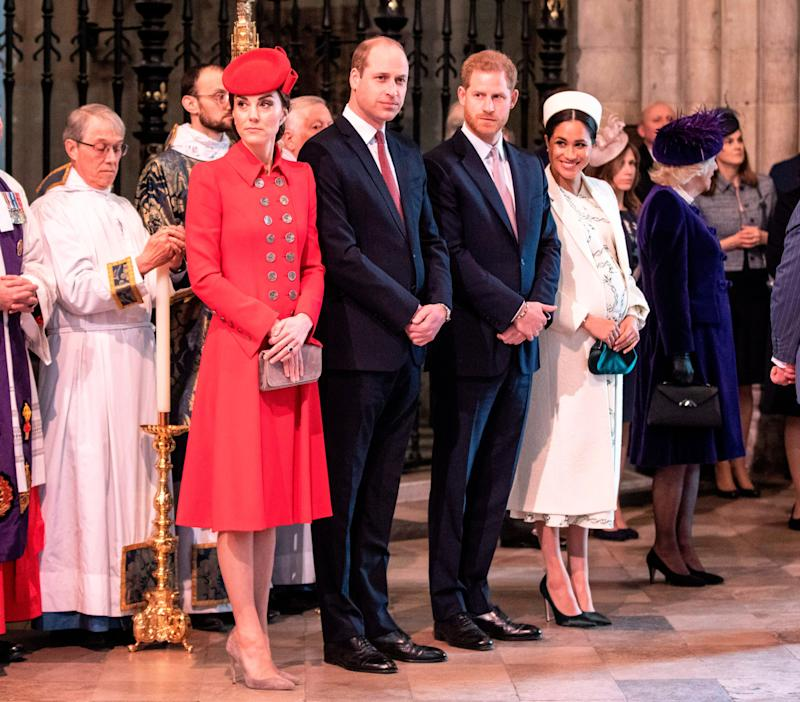 Kate Middleton, Prince William, Prince Harry and Meghan Markle at Westminster Abbey