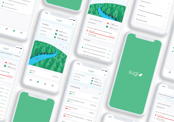 The Sugi app will show people the climate impact of their investment portfolios. Photo: Yahoo Finance UK