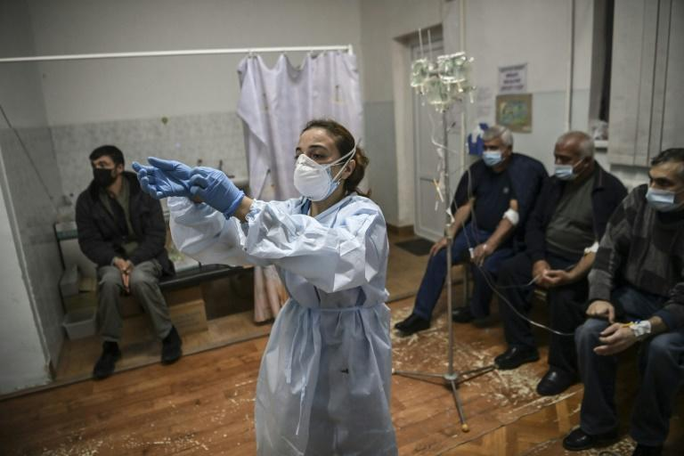 With no testing facilities in Stepanakert itself, hospital staff must care for suspected cases as best they can
