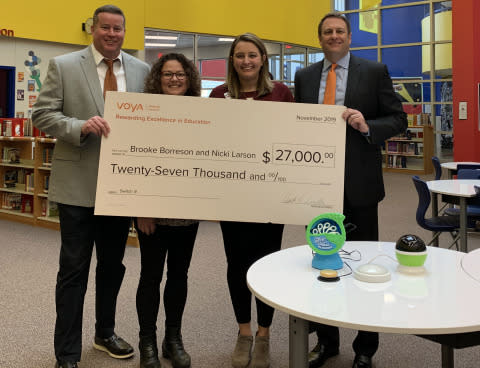 Voya Honors Buda, Texas Teachers With First-Place Unsung Heroes Program Award