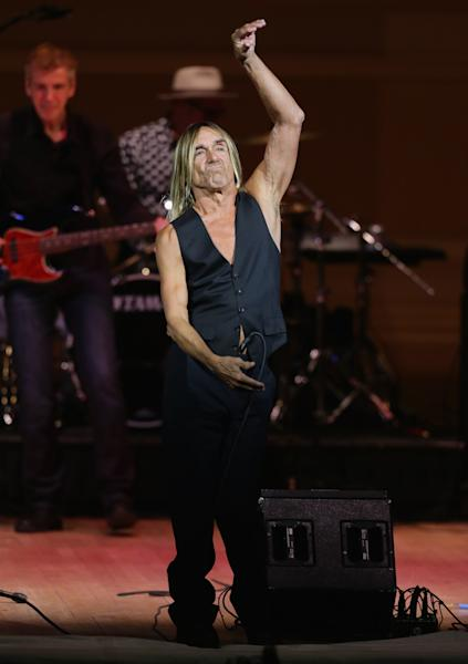 Iggy Pop performs at Carnegie Hall on March 11, 2014 in New York. The rock star says music was never meant to make money (AFP Photo/Neilson Barnard)