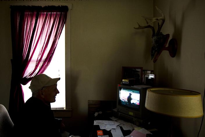 Dennis Hess shows a video recording of a person he believes stole from his farm stand, Monday, Nov. 4, 2013, in Litiz, Pa. You can take our word for it: Americans don't trust each other anymore. An AP-GfK poll conducted last month found that Americans are suspicious of each other in everyday encounters. Less than a third expressed a lot of trust in clerks who swipe their credit cards, drivers on the road, or people they meet when traveling. However, there are still trusters around to set an example like Hess who runs an unattended farm stand on the honor system. Customers pick out their produce, tally their bills and drop the money into a slot, making change from an unlocked cashbox. Even though he added a video camera a few years ago he says there isn't enough theft to undermine his trust in human nature. (AP Photo/Matt Rourke)