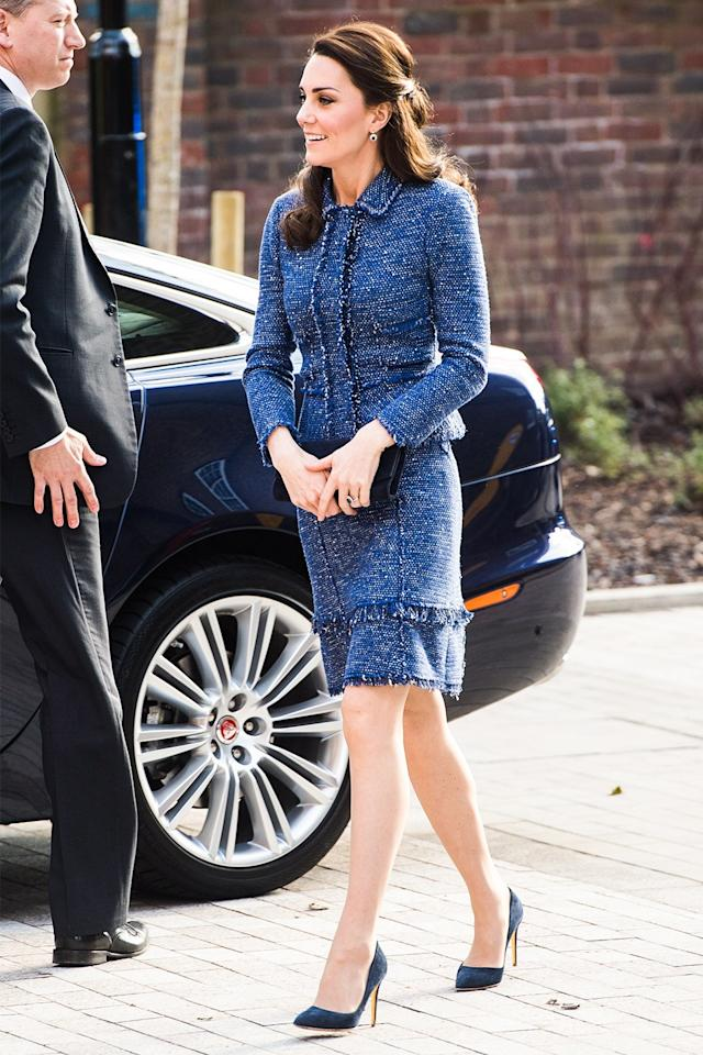 """<p>We may have just discovered the Duchess's <a rel=""""nofollow"""" href=""""http://www.vanityfair.com/style/2017/02/kate-middleton-tweed-suit-look-2017?mbid=synd_yahoostyle"""">favorite royal fabric</a>.</p>"""