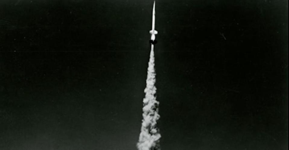 The first Aerobee sounding rocket launched on Nov. 24, 1947 under a project led by the U.S. Navy.